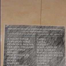 Arte: CARTEL EXPOSICION DIBUJOS ESPAÑOLES.GALERIA JUANA AIZPURU.SEVILLA.1979.MIRO.TAPIES.CUIXART.MOMPO.. Lote 82352392