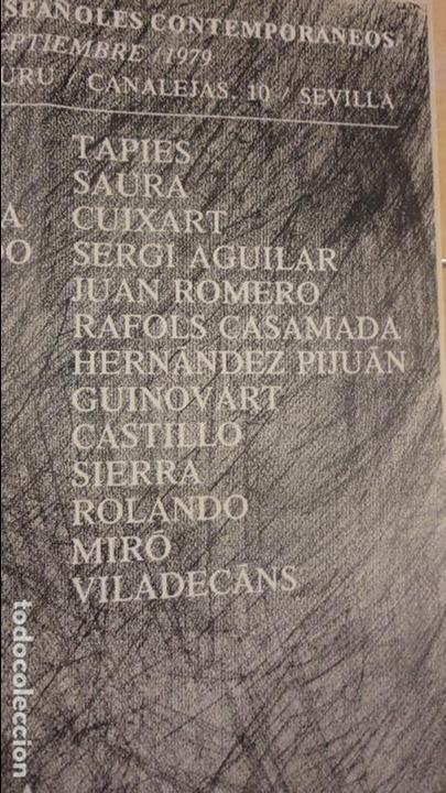 Arte: CARTEL EXPOSICION DIBUJOS ESPAÑOLES.GALERIA JUANA AIZPURU.SEVILLA.1979.MIRO.TAPIES.CUIXART.MOMPO. - Foto 4 - 82352392