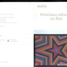 Arte: BALCLIS * PRÓXIMAS SUBASTAS ON-LINE *. DESPLEGABLE PUBLICITARIO. ( 21X15 CM. / 42 X 30 CM. ). Lote 85030728
