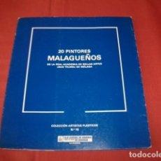 Arte: 20 PINTORES MALAGUEÑOS DE LA REAL ACADEMIA DE BELLAS ARTES DE SAN TELMO (MÁLAGA - PINTURA SIGLO XIX). Lote 115564684