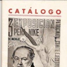 Arte: CATÁLOGO TERCERA EXPOSICIÓN PEÑA NIKE. HOMENAJE GOYA.. Lote 85283436