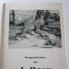 Arte: J. ROEX - FOLLETO DIPTICO EXPOSICION - 1973 - CENTRO ARTISTICO CIENTIFICO LITERARIO GRANADA. Lote 85430616