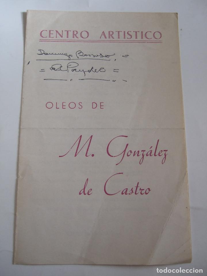 M. GONZALEZ DE CASTRO - FOLLETO DIPTICO EXPOSICION - 1975 - CENTRO ARTISTICO - GRANADA (Arte - Catálogos)