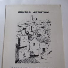 Arte: VILLAR YEBRA - FOLLETO DIPTICO EXPOSICION - 1974 - CENTRO ARTISTICO GRANADA. Lote 85658024