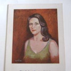 Arte: M. CARMEN PULIDO - FOLLETO DIPTICO EXPOSICION - 1975 - CENTRO ARTISTICO GRANADA . Lote 85658724