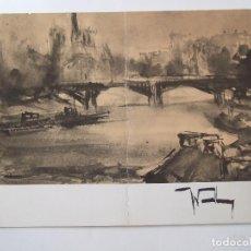 Arte: NEVILLE WOODBURY - FOLLETO DIPTICO EXPOSICION - 1975 - CENTRO ARTISTICO GRANADA. Lote 85659996