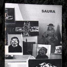 Arte: ANTONIO SAURA - PEINTURES SUR PAPIER - GALERIE STADLER 1969 - 1970 - TEXTO: ARRABAL. Lote 85712428