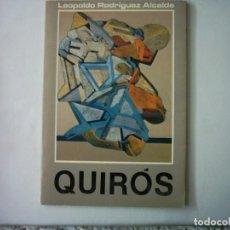 Arte: LEOPOLDO RODRÍGUEZ ALCALDE. QUIRÓS. 1983. MUSEO MUNICIPAL DE BELLAS ARTES DE SANTANDER.. Lote 87232052