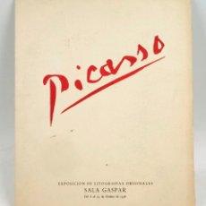 Arte: PICASSO, EXPOSICIÓN LITOGRAFÍAS ORIGINALES SALA GASPAR OCTUBRE 1956. 24,5X30CM.. Lote 87371600