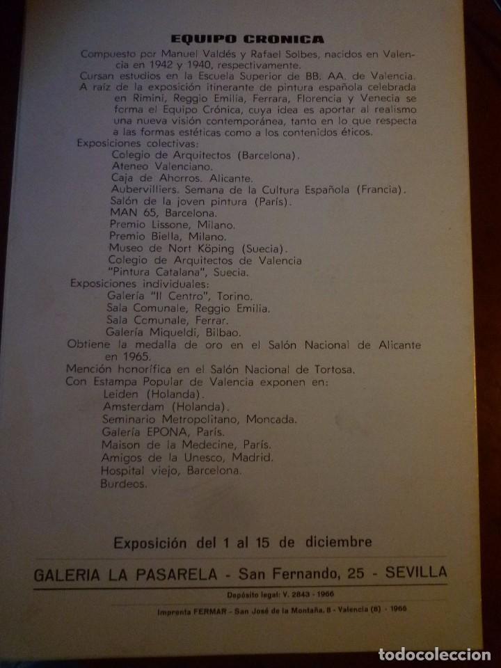 Arte: EQUIPO CRONICA. GALERIA LA PASARELA.SEVILLA. 1966 - Foto 2 - 87622592