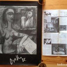 Arte: CARTEL Y CATALOGO FRANCISCO BORES - EXPOSICION ANTOLOGICA 1926-1972. Lote 88348680