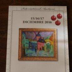Arte: CATALOGO SUBASTA LAMAS BOLAÑO 15-16-17 DICIEMBRE 2016. VER FOTOS.. Lote 89065196