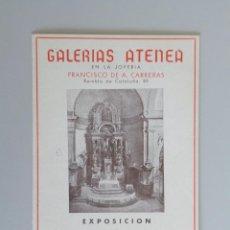 Arte: CAMPS MIRÓ // INVITACIÓN CATÁLOGO EXPOSICIÓN // GALERIAS ATENEA // 1942 // BARCELONA. Lote 89074936