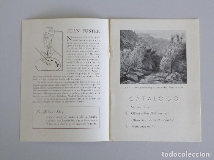 JUAN FUSTER // INVITACIÓN CATÁLOGO EXPOSICIÓN // PINTURAS // GALERIAS REIG // 1943 // BARCELONA (Arte - Catálogos)