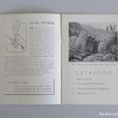 Arte: JUAN FUSTER // INVITACIÓN CATÁLOGO EXPOSICIÓN // PINTURAS // GALERIAS REIG // 1943 // BARCELONA. Lote 89076120