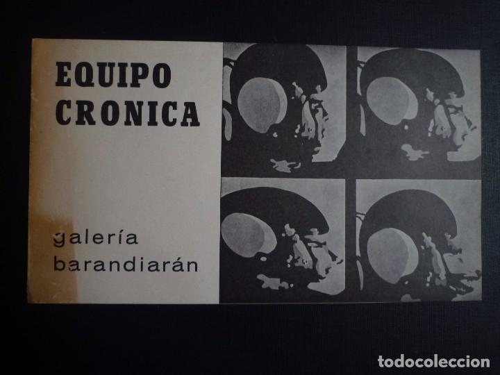 EQUIPO CRÓNICA. GALERÍA BARANDIARÁN. SAN SEBASTIÁN. 1967 (Arte - Catálogos)