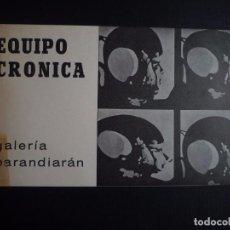 Arte: EQUIPO CRÓNICA. GALERÍA BARANDIARÁN. SAN SEBASTIÁN. 1967. Lote 89222848