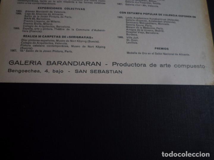 Arte: EQUIPO CRÓNICA. GALERÍA BARANDIARÁN. SAN SEBASTIÁN. 1967 - Foto 3 - 89222848