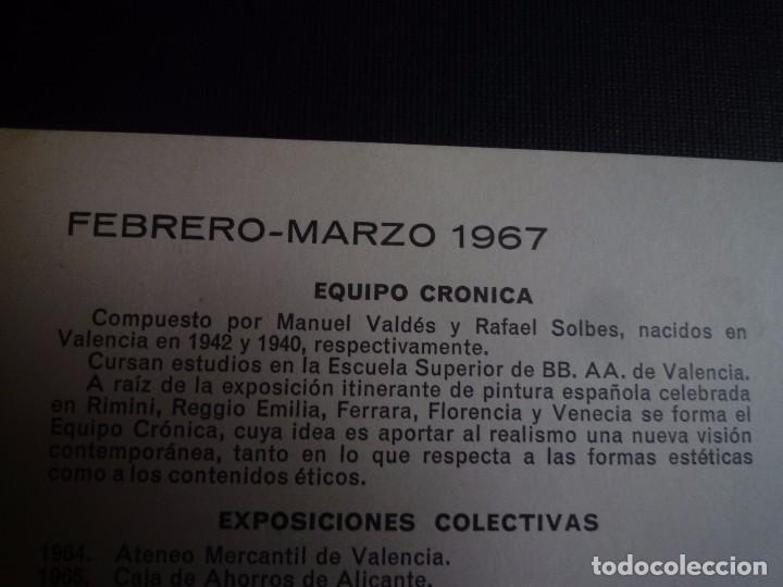 Arte: EQUIPO CRÓNICA. GALERÍA BARANDIARÁN. SAN SEBASTIÁN. 1967 - Foto 4 - 89222848