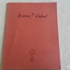 Arte: AMADOR CALVET - GALERÍA DE ARTE SOKOA - 2002 - PINTURA. Lote 89236776
