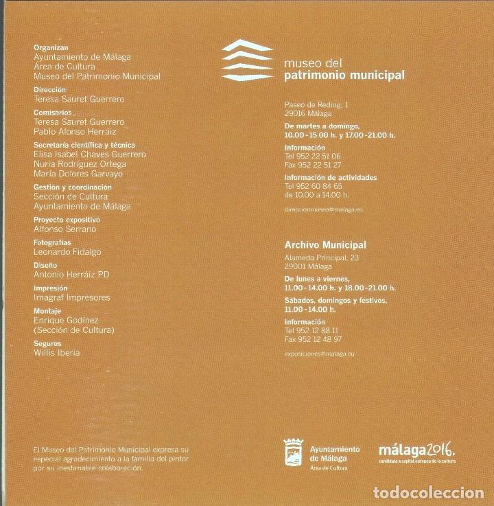 Arte: MANUEL GARVAYO 1911 - 1983. MUSEO DEL PATRIMONIO MUNICIPAL. MÁLAGA, 2010. - Foto 7 - 89682836