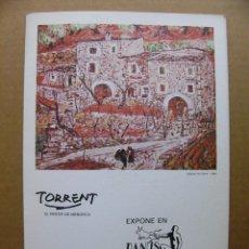 Arte: CATALOGO DEL PINTOR TORRENT EXPOSICION DE PINTURA AL OLEO 1979. Lote 89688120