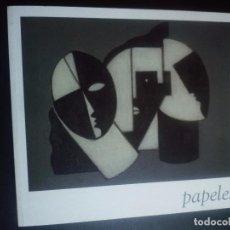 Arte: PAPELES. JUAN MANUEL BONET. GALERIA A34. BARCELONA 2009. Lote 89697792