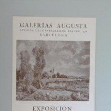 Arte: JOSÉ CASES // INVITACIÓN CATÁLOGO EXPOSICIÓN // GALERIAS AUGUSTA // 1943 // BARCELONA. Lote 90172528