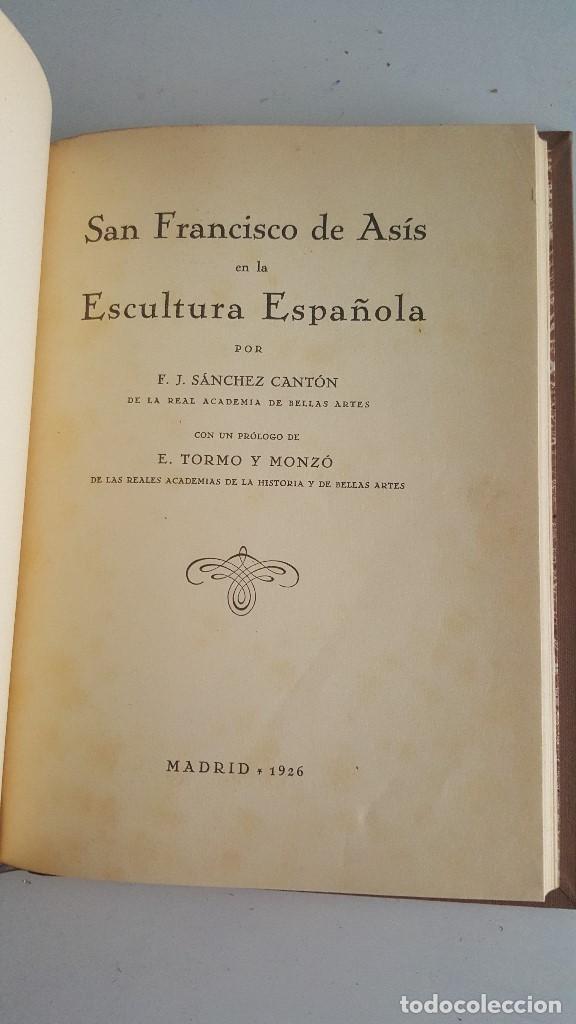 Arte: SAN FRANCISCO DE ASIS EN LA ESCULTURA ESPAÑOLA-1926- SANCHEZ CANTON - Foto 3 - 91027685
