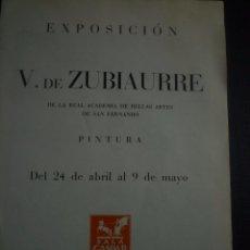 Arte: VALENTÍN DE ZUBIAURRE. PINTURAS. DÍPTICO SALA GASPAR. BARCELONA 1946. Lote 91335055