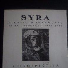 Arte: FRANCESC GIMENO. RETROSPECTIVA. DÍPTICO SYRA GALERIES D' ART. BARCELONA 1935-1936. Lote 91348010