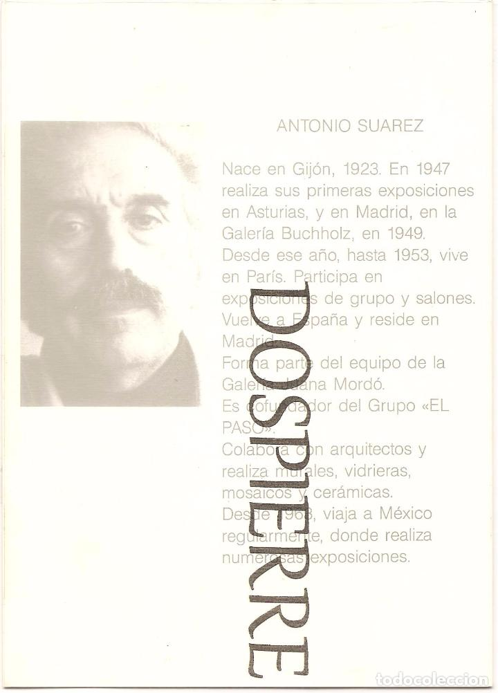 INVITACIÓN.DÍPTICO, EXPOSICIÓN PINTOR ANTONIO SUÁREZ, GALERÍA ARTE (Arte - Catálogos)