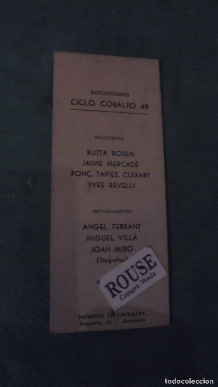 Arte: COBALTO 49 - YVES REVELLI ESCULTURAS Y ESTUDIOS DE COLOR 1950 GALERIA SAPI PALMA DE MALLORCA DEL 1 - Foto 4 - 91797500
