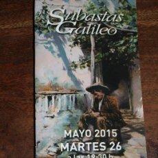 Arte: CATALOGO SUBASTAS GALILEO MAYO 2015. 10,5 X 21 CM. 60 PAGINAS.VER FOTOS. Lote 91942910