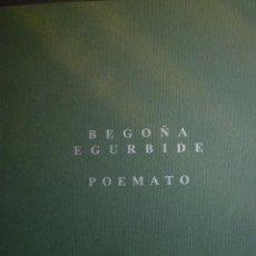 Arte: BEGOÑA EGURBIDE. POEMATO. GALERIA XAVIER XIOL. PALMA DE MALLORCA. 1991. Lote 93946005