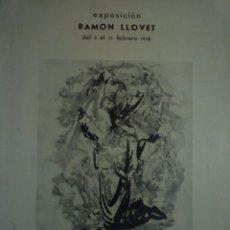 Arte: RAMON LLOVET. SALA GASPAR. BARCELONA. 1958. Lote 94147995