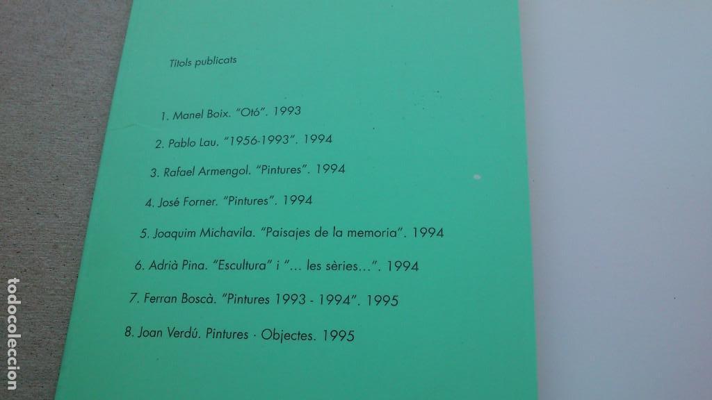 Arte: PINTURES · OBJECTES - CATÁLOGO DE JOAN VERDÚ - EXPOSICIÓN ALZIRA 8 - 1995 - BUEN ESTADO - Foto 2 - 94156620
