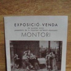 Arte: EXPOSICIÓ - VENDA DE QUADRES ANTICS - GALERIES LAIETANES - BERCELONA AÑO 1933. Lote 94328142