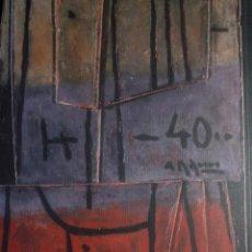 Arte: ALCEU RIBEIRO. MADERAS. SALA DALMAU. BARCELONA. 2000. Lote 94390978