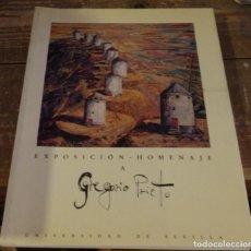 Arte: EXPOSICION HOMENAJE A GREGORIO PRIETO , UNIVERSIDAD DE SEVILLA,1993, 115 PAGINAS. Lote 94792251