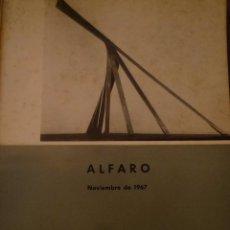Arte: ANDREU ALFARO. DIRECCIÓN GENERAL DE BELLAS ARTES. MADRID. 1967. TEXTO TOMÁS LLORENS. Lote 94878607