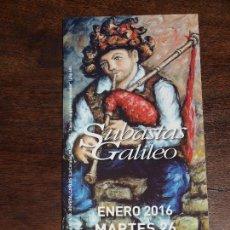 Arte: CATALOGO SUBASTAS GALILEO ENERO 2016. 10,5 X 21 CM. 64 PAGINAS.VER FOTOS. Lote 94945471