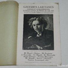 Arte: CATALOGO GALERIES LAIETANES PINTURA CATALANA DE MESTRES DEL SEGLE XIX , R MARTI I ALSINA, M FORTUNY. Lote 97360467