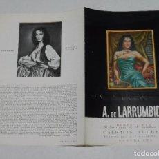 Arte: CATALOGO A DE LARRUMBIDE , MINIATURAS , SALA BUSQUETS, BARCELONA 1953 , 4 PAG, 19'5 X 13 CM. Lote 97360699