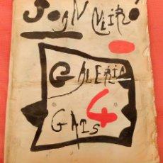 Arte: CATALOGO INEDITO DE JOAN MIRO. EDITADO POR LA GALERIA 4 GATS DE MALLORCA. AÑO 1983. Lote 97674919
