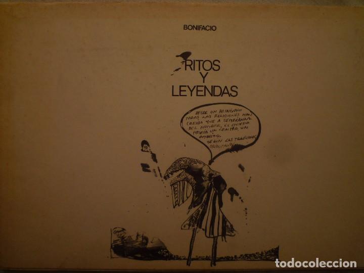 BONIFACIO. RITOS Y LEYENDAS. GALERIA VAL I 30. VALENCIA. 1975 (Arte - Catálogos)