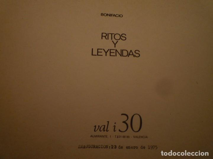 Arte: BONIFACIO. RITOS Y LEYENDAS. GALERIA VAL I 30. VALENCIA. 1975 - Foto 6 - 97947351