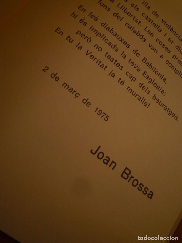 Arte: ANTONI TÀPIES. JOAN BROSSA. ODA A LLUIS M. XIRINACS. 1976 - Foto 2 - 99481463