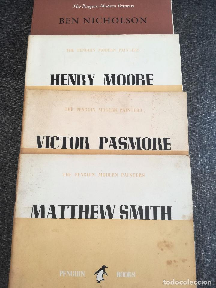 CATÁLOGOS PENGUIN MODERN PAINTERS 1944-48: MATTHEW SMITH, VICTOR PASMORE, BEN NICHOLSON, HENRY MOORE (Arte - Catálogos)