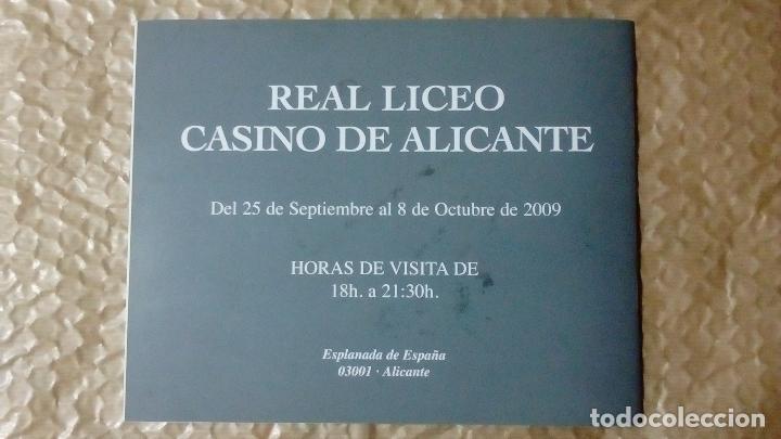 Arte: EUSTAQUIO SEGRELLES. CATÁLOGO DE EXPOSICIÓN EN CASINO DE ALICANTE. 2009. FIRMADO Y DEDICADO. - Foto 2 - 99906383